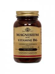 Solgar Magnésium avec Vitamine B6 100 Comprimés - Flacon 100 comprimés