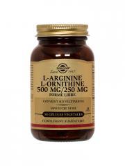 Solgar L-Arginine L-Ornithine 500 / 250 50 Gélules Végétales - Flacon 50 gélules