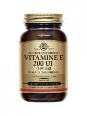 Solgar Vitamine E 200 UI (134 mg) 100 Gélules Végétales - Flacon 100 Gélules