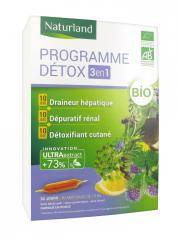 Naturland Programme Détox 3 en 1 Bio 30 Ampoules de 10 ml - Boîte 30 ampoules de 10 ml