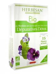 Herbesan Bio Complexe Bouleau Détox 20 Ampoules de 15 ml - Boîte 20 ampoules de 15 ml