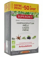 Super Diet Quatuor Prêle Articulations Bio 30 Ampoules dont 50% Offert - Boîte 30 ampoules de 15 ml