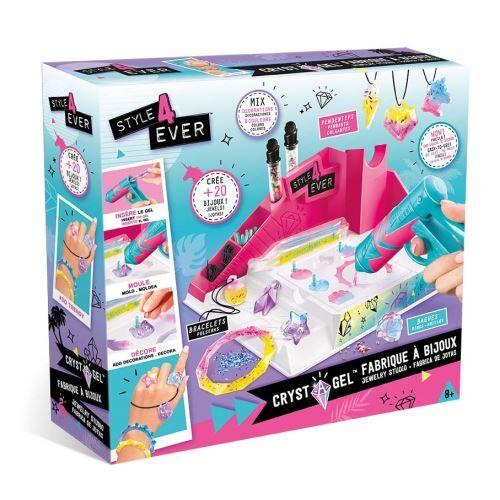 Style For Ever Kit créatif Style For Ever Coffret Crystal gel Studio Fabrique à bijoux - Kit loisir créatif