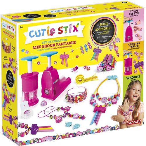Lansay Kit créatif Lansay Cutie Stix Mes bijoux fantaisie - Autre jeu créatif
