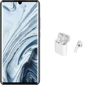 """Xiaomi Pack Smartphone Xiaomi Mi Note 10 Écran incurvé 6.47"""" 256 Go Double SIM Noir minuit + Écouteurs sans fil Xiaomi Mi True Wireless Blanc - Publicité"""