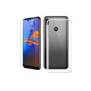 Motorola Pack Smartphone Motorola Moto E6 Plus 64 Go Noir et Coque de protection + Verre trempé - Smartphone