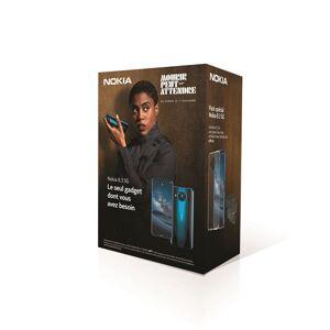 """Nokia Pack Smartphone Nokia 8.3 6.81"""" 128 Go 5G Double SIM Bleu + Coque Nokia Clear Case Transparent + Ecouteurs sans fil Nokia Power Lite Noir - Publicité"""