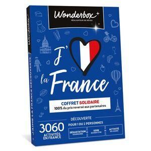 Wonderbox Coffret cadeau Wonderbox J'aime La France Découverte Solidaire - Coffret cadeau - Publicité