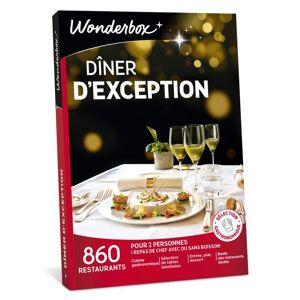Wonderbox Coffret cadeau Wonderbox Dîner d'exception - Coffret cadeau - Publicité