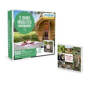 Vivabox Coffret cadeau Vivabox 2 jours insolites gourmands - Coffret cadeau - Publicité