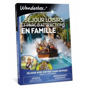 Wonderbox Coffret Cadeau Wonderbox Séjour Loisirs et Parc d'Attractions en Famille - Coffret cadeau - Publicité