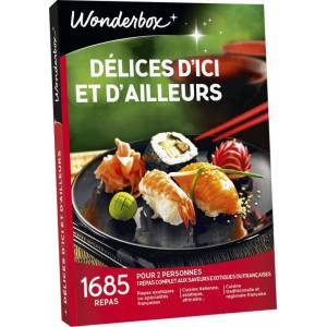 Wonderbox Coffret cadeau Wonderbox Délices d'ici et d'ailleurs - Coffret cadeau - Publicité
