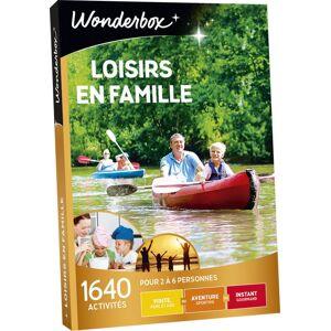 Wonderbox Coffret cadeau Wonderbox Loisirs en famille - Coffret cadeau - Publicité
