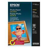 Papier d'impressionEpsonPapier Photo Glacé 200 g A3 - Papier pour imprimante