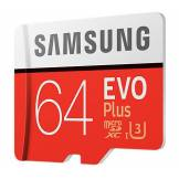 Samsung Carte micro SD Evo Plus Samsung 64 Go avec adaptateur SD - Carte SD