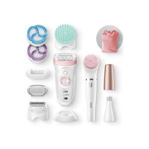 Braun Epilateur électrique Braun Silk Epil 9 985 Blanc et Rose Beauty set - Publicité
