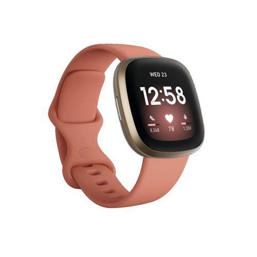 Fitbit Montre connectée Fitbit Versa 3 Argile rose - Bracelet, tracker d'activité