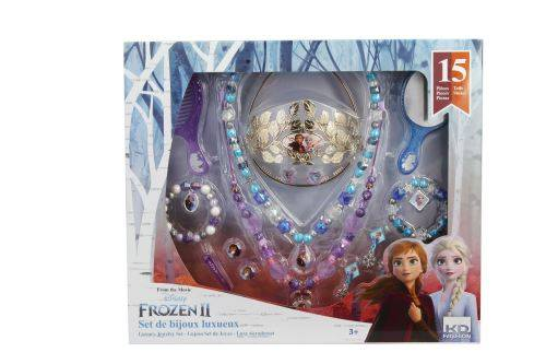 KD Fashion Coffret bijoux 15 pièces La Reine Des Neiges 2 - Panoplie de déguisement