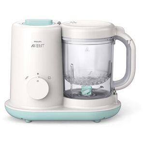 Philips Robot cuiseur-mixeur pour bébé Philips Avent Essential SCF862 Blanc et Menthe - Publicité