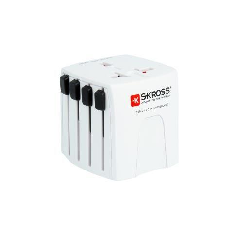 Skross Adaptateur secteur universel de voyage 4 prises internationales MUV Micro Skross - Câble d'alimentation