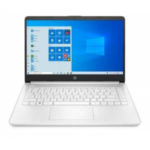 """HP PC Ultra-Portable HP 14s-fq0011nf 14"""" AMD Ryzen 3 4 Go RAM 256 Go SSD Blanc neige - Ordinateur ultra-portable - Publicité"""