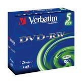 Verbatim DVD-RW 4,7 Go x 5 - (donnée non spécifiée)
