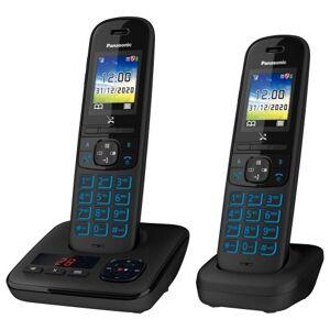Panasonic Téléphone sans fil Panasonic KX-TGH722 Noir - Téléphone sans fil