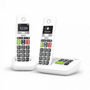 Gigaset Téléphone fixe sans fil Gigaset E200A Duo Blanc - Téléphone VoIP - Publicité