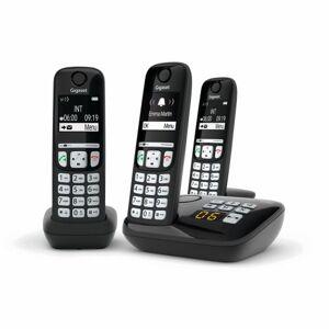 Gigaset Téléphone fixe sans fil Gigaset Trio A700A Noir - Téléphone VoIP - Publicité