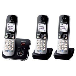 Panasonic Téléphone Fixe sans fil Panasonic KX-TG6823 Dect Trio Noir - Téléphone sans fil