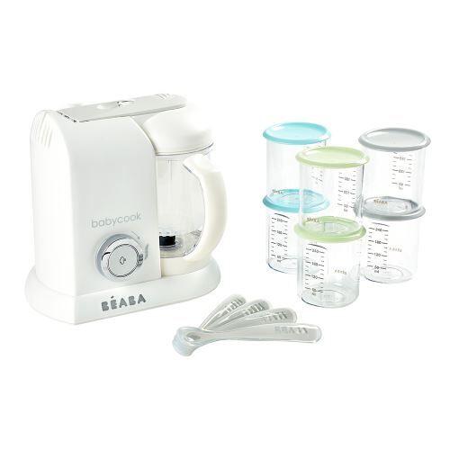 Beaba Pack robot préparation bébé avec accessoires Béaba Babycook® Blanc - Robot préparation bébé