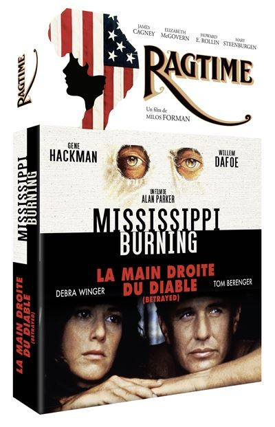 Coffret America Mississippi Burning Ragtime La Main droite du diable DVD - DVD Zone 2