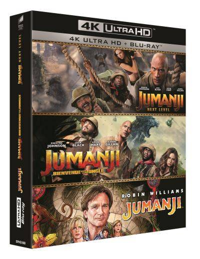 Coffret Jumanji Trilogie Blu-ray 4K Ultra HD - Blu-ray 4K