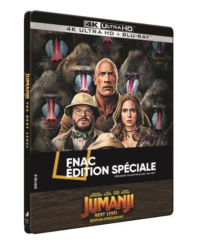 Jumanji : Next Level Steelbook Exclusivité Fnac Blu-ray 4K Ultra HD - Blu-ray 4K