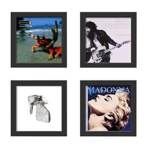 Lot de 4 Cadres noirs pour disques vinyles à ouverture frontale Show and Listen - Publicité