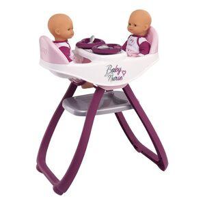 Smoby Chaise haute jumeaux 2 en 1 Baby Nurse Smoby - Accessoire poupée - Publicité