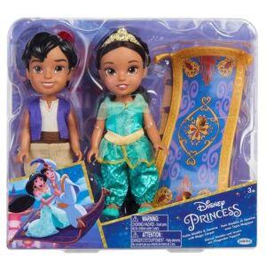 Disney Princesses Coffret 2 poupées Jakks Pacific Aladdin et Jasmine 15 cm - Poupée