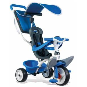 Smoby Tricycle Evolutif Baby Balade Smoby Roues Silencieuses Bleu - Tricycle - Publicité