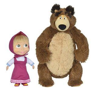 Simba Set de 2 peluches Simba Masha et Michka - Peluche (autre) - Publicité