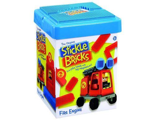 Clipo Jeu de construction Clipo Camion de pompier - Cubes