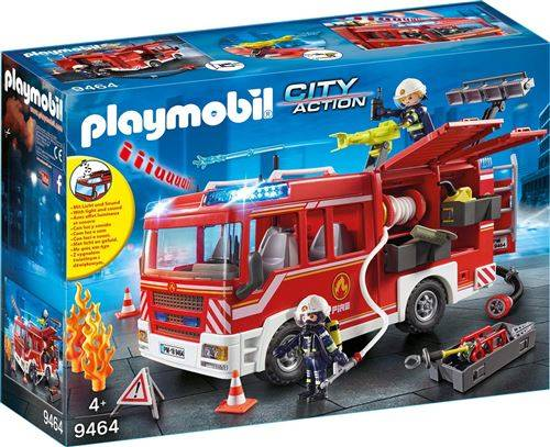 Playmobil City Action Les pompiers 9464 Fourgon d'intervention des pompiers - Playmobil