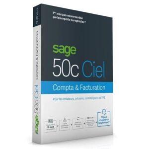 Sage 50cloud Ciel Compta + Facturation PC 1 an d'assistance téléphonique - Publicité