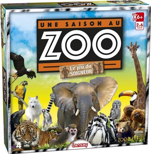 Lansay Jeu d'apprentissage, de mémoire et d'observation Lansay Une Saison au zoo Le Jeu du Soigneur - Jeu TV, série TV ou film
