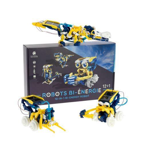 Nature et Découvertes Robots bi-énergie 12 en 1 - Robot