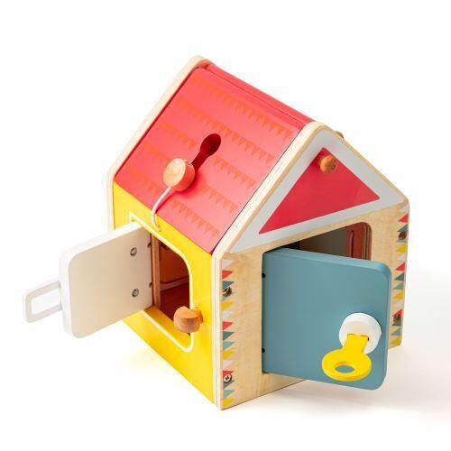 Nature et Découvertes Jeu en bois Maison à fermetures Montessori - Autre jeu créatif