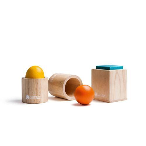 Nature et Découvertes Jeu en bois Ensemble de 3 matériels d'emboîtement Montessori - Encastrement