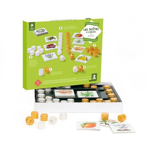 Nature et Découvertes Jeu de découverte Les boîtes à odeurs Montessori - Jeu découverte
