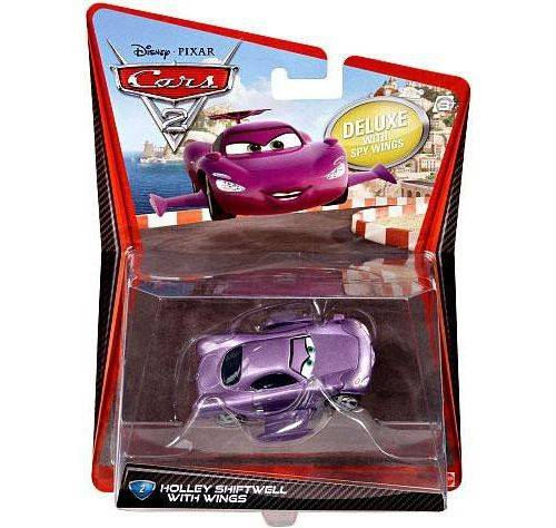 Cars - V2845 - Voiture Miniature - Cars 2 - Holley Shiftwell With Wings # 2 - Maquette
