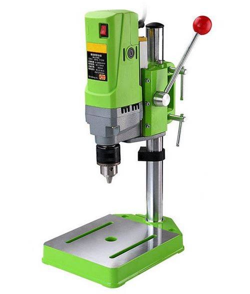 MINIQ BG-5156E Bench Drill Stand 710W Mini Electric Bench Drilling Machine Drill Chuck 1-13mm - Accessoire modélisme