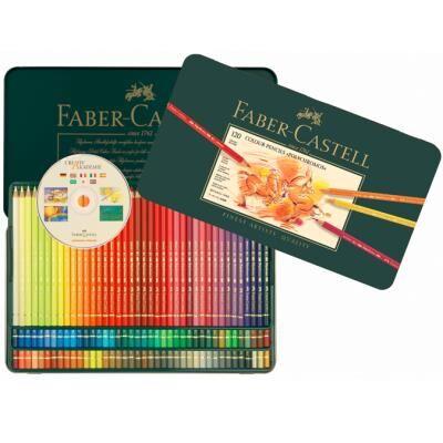 Faber-Castell Boîte métal de 120 crayons de couleurs Polychromos - Autres accessoires de dessin et peinture